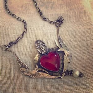 Sweet bird necklace-sterling